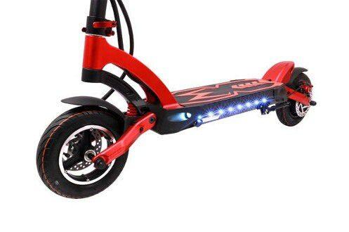 elektrische step kaabo mantis k800 rood verlichting