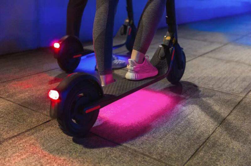 elektrische step ninebot e25e voetplaat verlichting