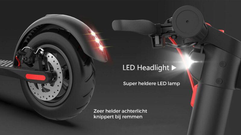 elektrische step x7 verlichting