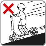 elektrische step veiligheid - bergaf